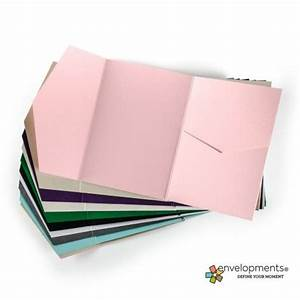5x7 invitation side pocket fold With side pocket fold wedding invitations