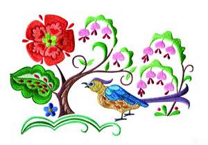 embroidery designs a birds paradise jf309 embroidery design