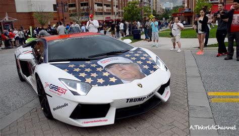 Funny Donald Trump Lamborghini Aventador! Trumpventador