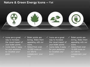 Nuclear Energy Symbol Green Plant Power Plug Ppt Icons