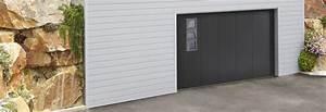 Porte De Garage Sectionnelle Latérale : porte de garage sectionnelle lat rale avec hublots couleur gris ral 7016 ~ Melissatoandfro.com Idées de Décoration