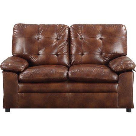 Buchannan Faux Leather Loveseat by Mainstays Buchannan Faux Leather Loveseat Colors