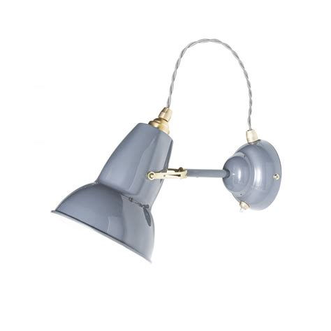 anglepoise original 1227 brass wall light elephant grey