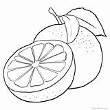 Grapefruit Coloring Printable Pages sketch template