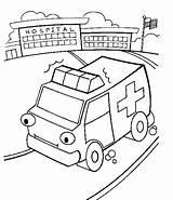 Coloring Ambulance Printable Hospital Truck Sheets Olphreunion Chakiradecor Coloringfolder sketch template
