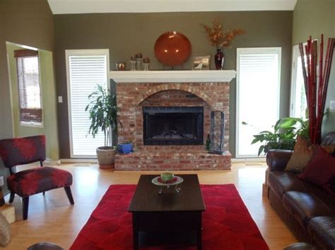 living room red brick fireplace decor formal living room living room designs decorating