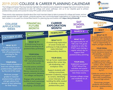 ccp planning calendar college career planning