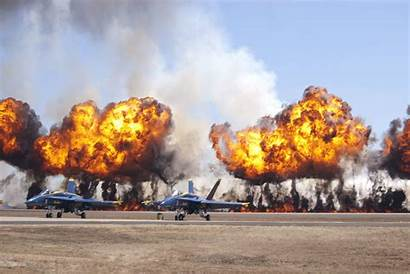 Explosion Military Angels Fighter Jet Airplane Effect