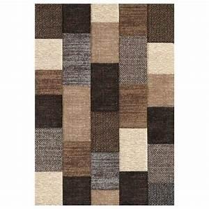 Tapis C Discount : belis tapis 160x230 cm marron et beige et gris achat ~ Teatrodelosmanantiales.com Idées de Décoration