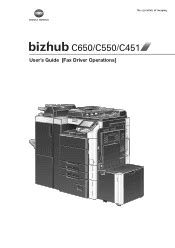 Find everything from driver to manuals of all of our bizhub or accurio products. Konica Minolta bizhub C550 Manual