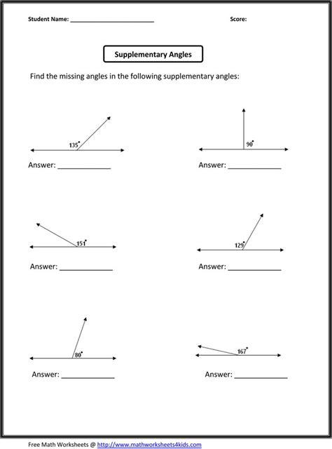 sixth grade math worksheets geometry worksheets