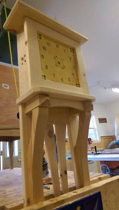 beautiful tall knotty pine wall clock  alongiron