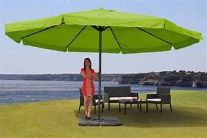 Sonnenschirm 3 Meter Durchmesser : alu sonnenschirm meran pro gastronomie marktschirm mit volant 5m gr n mit st nder ~ Whattoseeinmadrid.com Haus und Dekorationen