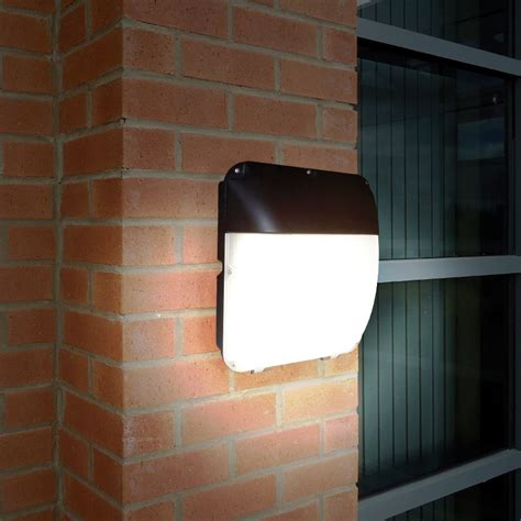 eterna 30w cool white led outdoor wall light with dusk to