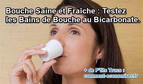 bain de siege bicarbonate de soude bouche saine et fraîche testez les bains de bouche au