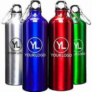 Promotional 25 oz alpine aluminum water bottles with for Create custom water bottles