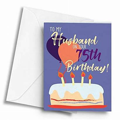 Birthday Husband 75th Greetings A5 65th Specifications