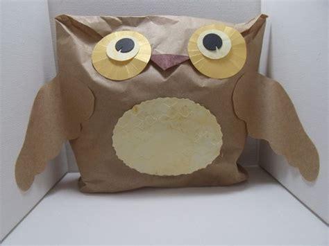 preschool crafts for paper bag owl craft 280 | owl1