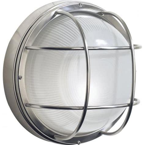 circular stainless steel garden wall light nautical