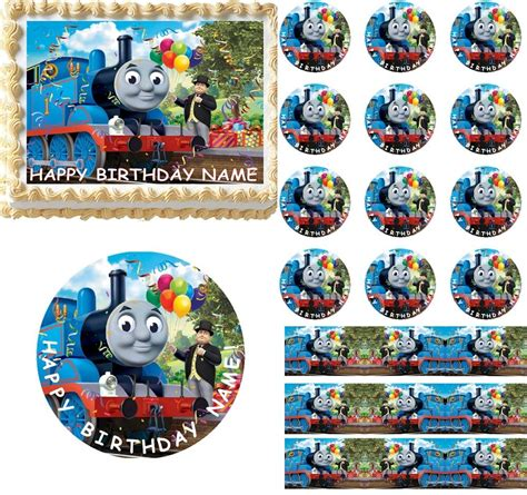 thomas  friends edible cake topper image frosting sheet