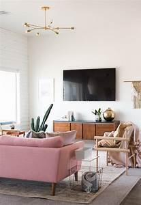 A, Chic, Living, Room, Update, With, A, Gorgeous, Pink, Sofa
