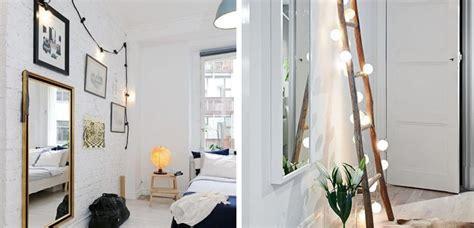 guirnaldas de luces  iluminar el dormitorio