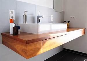 Waschtischplatte Holz Aufsatzwaschtisch : design badezimmer holzboden ~ Sanjose-hotels-ca.com Haus und Dekorationen