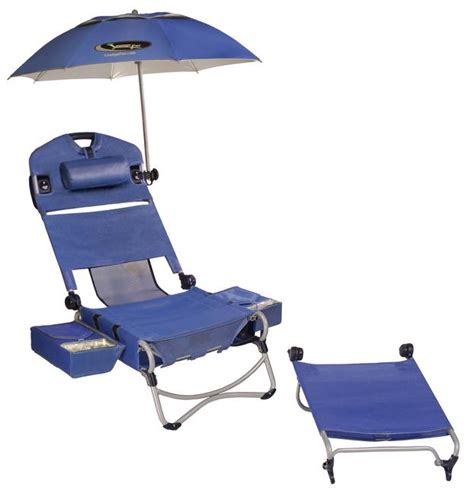 cing chair with footrest and umbrella loungepac chair