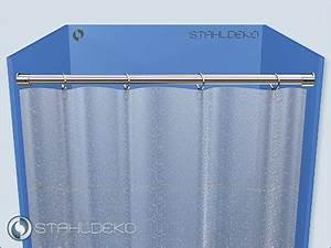 Halterung Für Duschvorhang : duschvorhang halterung aus edelstahl 20mm gerade duschwanne abtrennung mit ringe ~ Markanthonyermac.com Haus und Dekorationen
