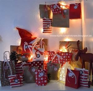 Adventskalender Tüten Depot : karos kreativkram t ten adventskalender in rot wei ~ Watch28wear.com Haus und Dekorationen