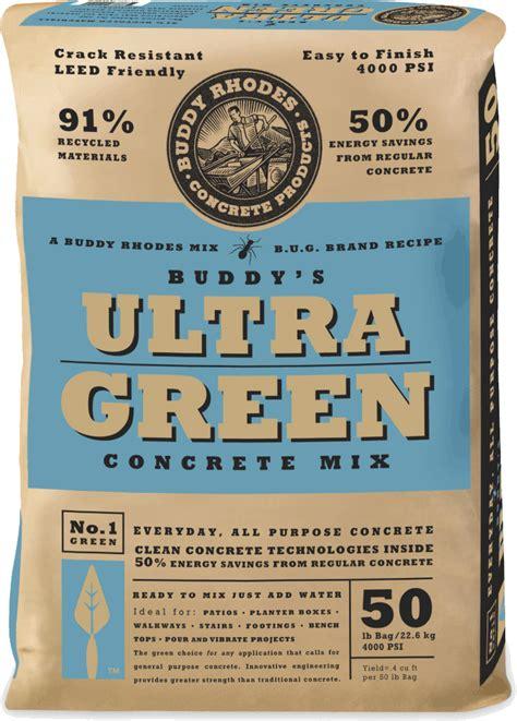 buddys ultra green concrete     buddy