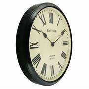 Wall Clocks Large by Smiths Clocks Large Station Wall Clock Black Roman Numerals