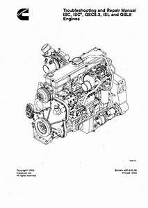 Cummins Isc Qsc8 3 Isl Qsl9 Engine Workshop Repair Service