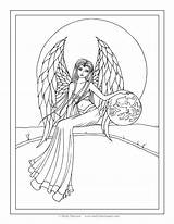 Coloring Angel Pages Molly Guardian Adult Harrison Fantasy Printable Angels Snow Drawing Books Garden Fairy Fairies Getdrawings Earth Getcolorings Template sketch template