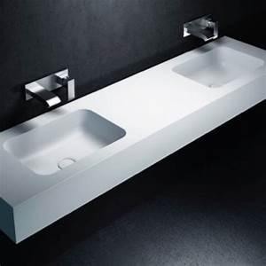 Vasque En Corian : double vasque corian toronto lavabo solid surface ~ Premium-room.com Idées de Décoration