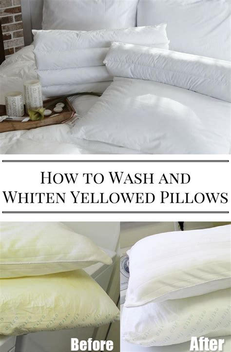 how to wash pillows how to wash and whiten yellowed pillows home and