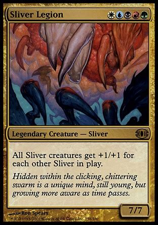 mtg sliver deck edh sliver overlord combo aggro multiplayer commander