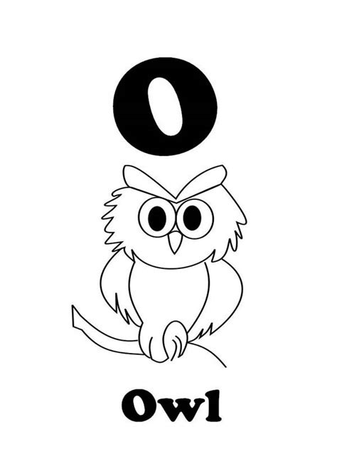 letter    owl coloring  writing  kids coloring