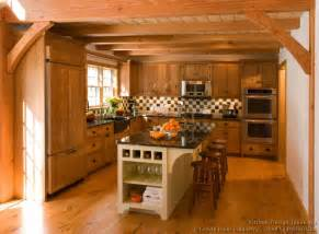 Log Cabin Kitchen Island Ideas by Log Home Kitchens Pictures Design Ideas