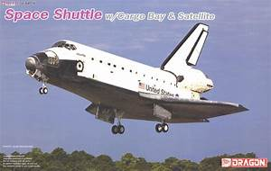 Space Shuttle Orbiter w/Cargo Bay & Satellite (Plastic ...