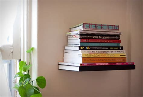 invisible book shelf feel desain  daily dose