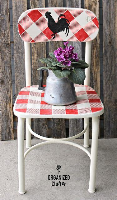 buffalo check  thrifted farmhouse style childs chair