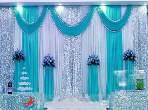 mm mm mm ice silk wedding backdrop swag party