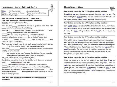 homophones worksheets by bas0410 teaching resources tes