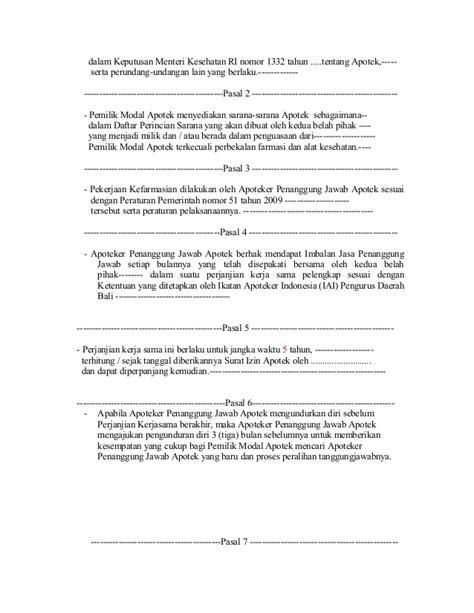 contoh surat perjanjian dokter  pasien surat