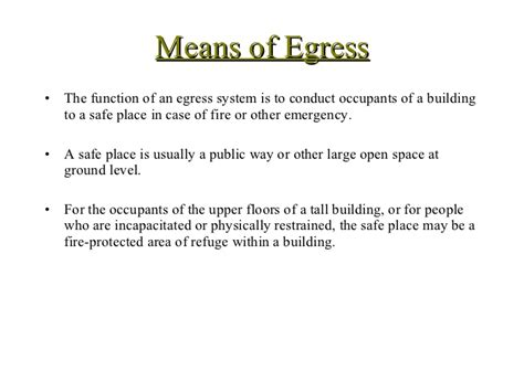 Bedroom Definition Building Code by Building Code Egress
