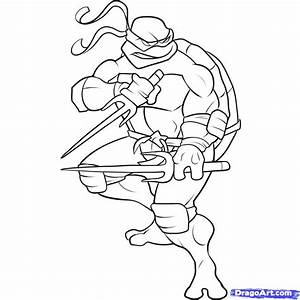 How to Draw a Ninja Turtle, Step by Step, Characters, Pop ...