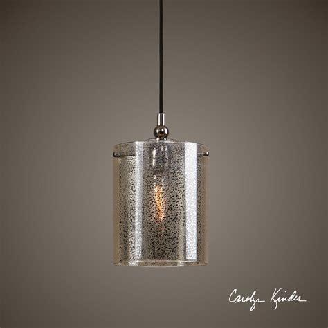 Mercury Glass Plated Nickel Hanging Pendant Ceiling Light