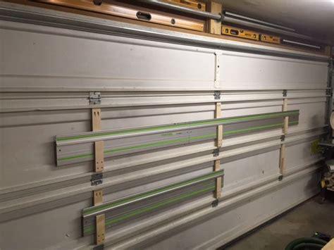 guide rail garage door storage door storage festool