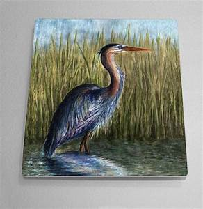 Blue Heron Aluminum Wall Art by Outer Banks, NC artist ...